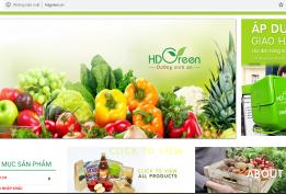 Thiết kế website thực phẩm